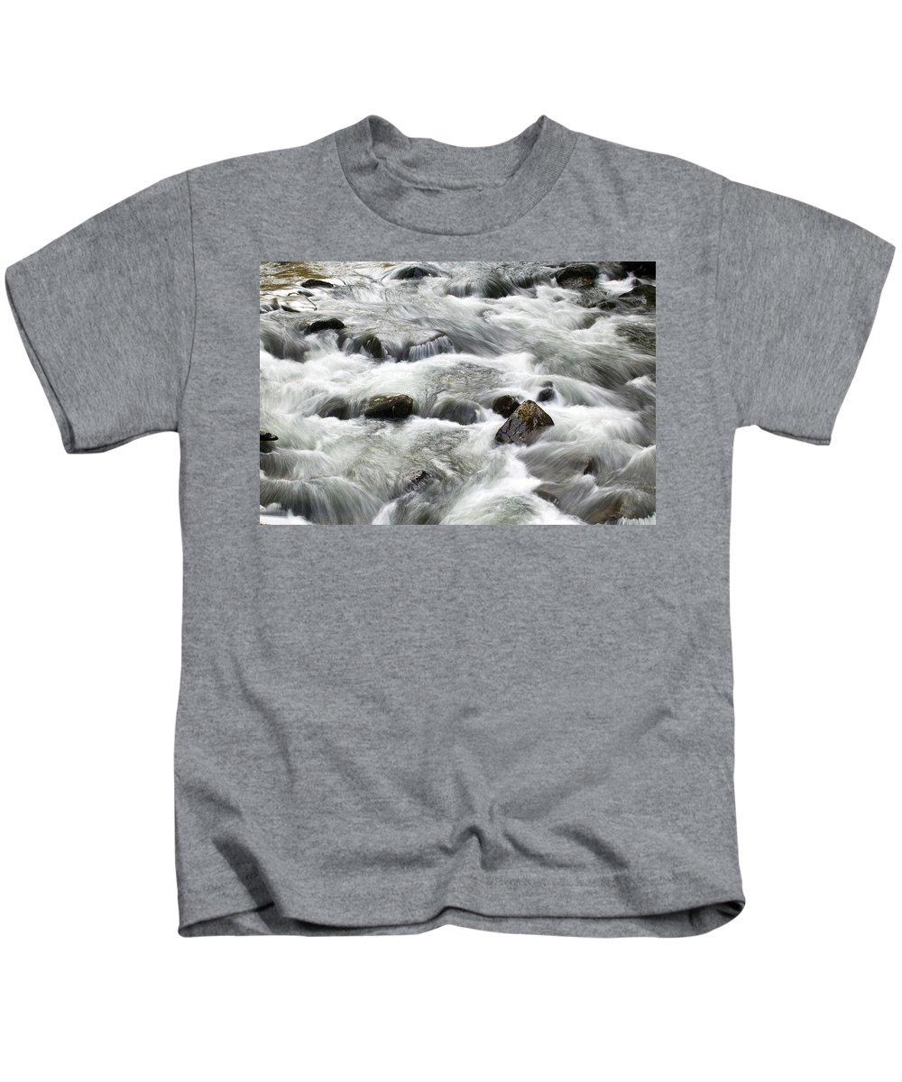 Water Kids T-Shirt featuring the photograph Mountain Stream Smokies by Rich Franco