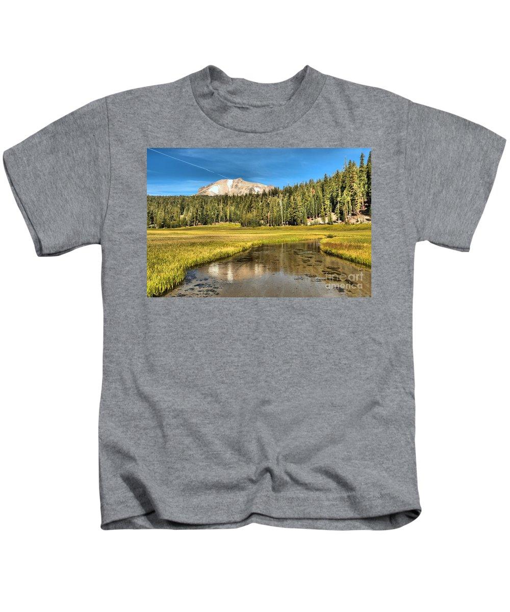 Lassen National Park Kids T-Shirt featuring the photograph Mt Lassen Reflections by Adam Jewell