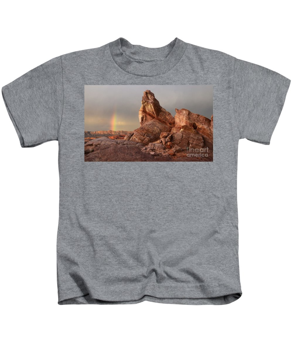 Sandstone Kids T-Shirt featuring the photograph Natures Grace by Bob Christopher