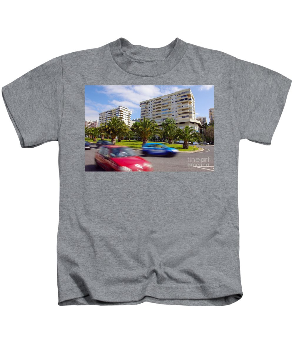 Abstract Kids T-Shirt featuring the photograph Neighborhood Unrest by Carlos Caetano