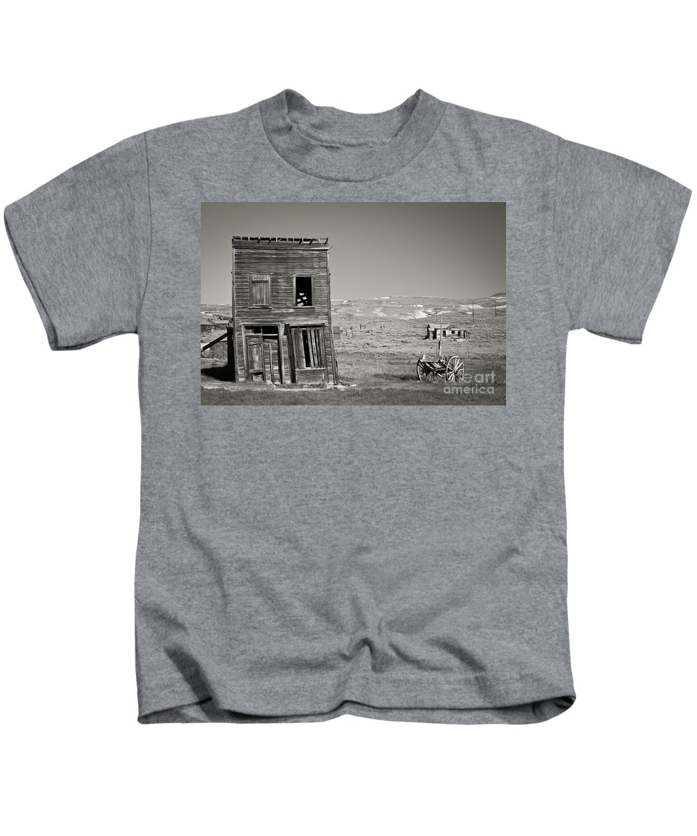 Abandoned Kids T-Shirt featuring the photograph Old House In Bodie by Olivier Steiner