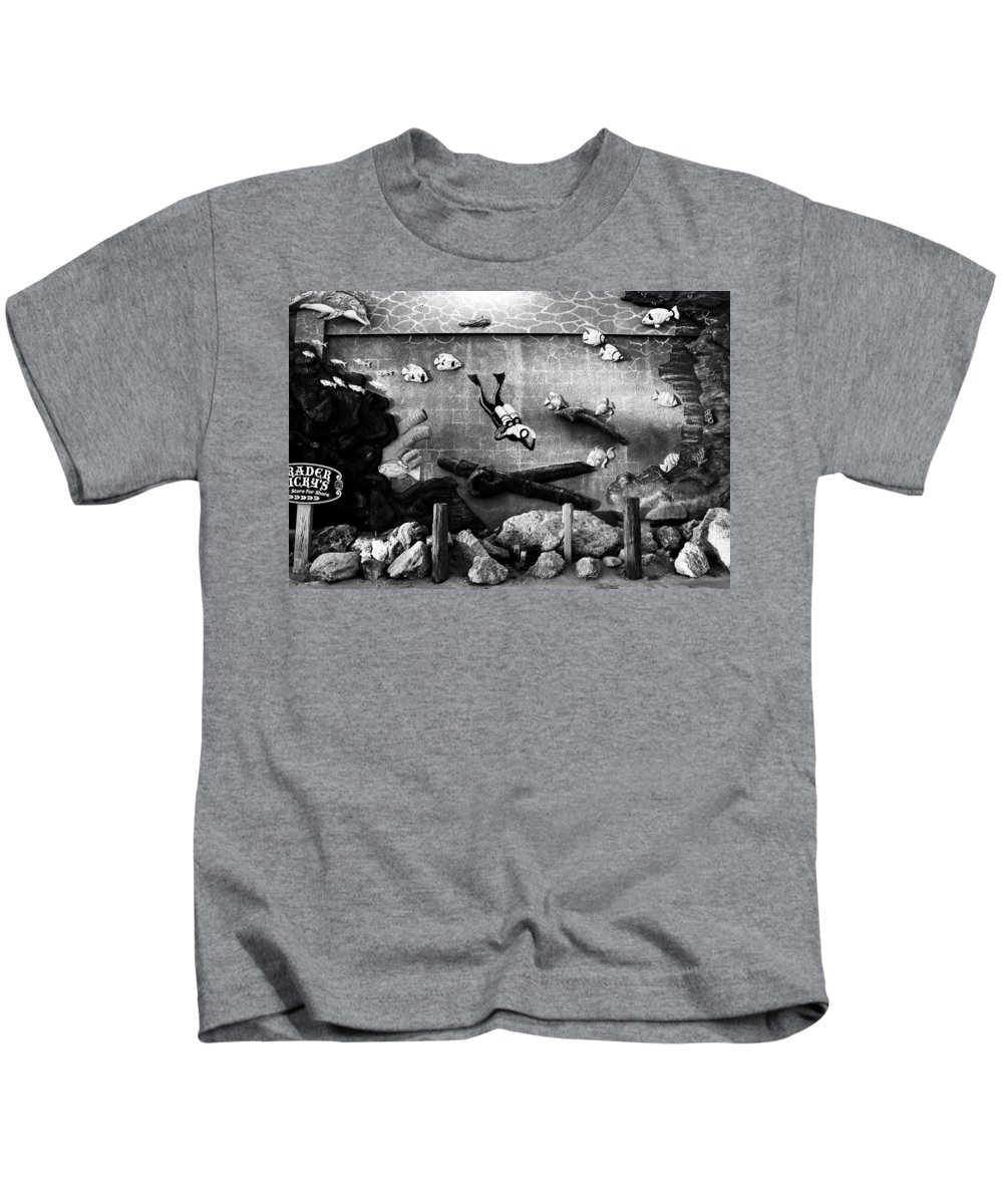 Fine Art Photography Kids T-Shirt featuring the photograph Old Trader Rickys by David Lee Thompson