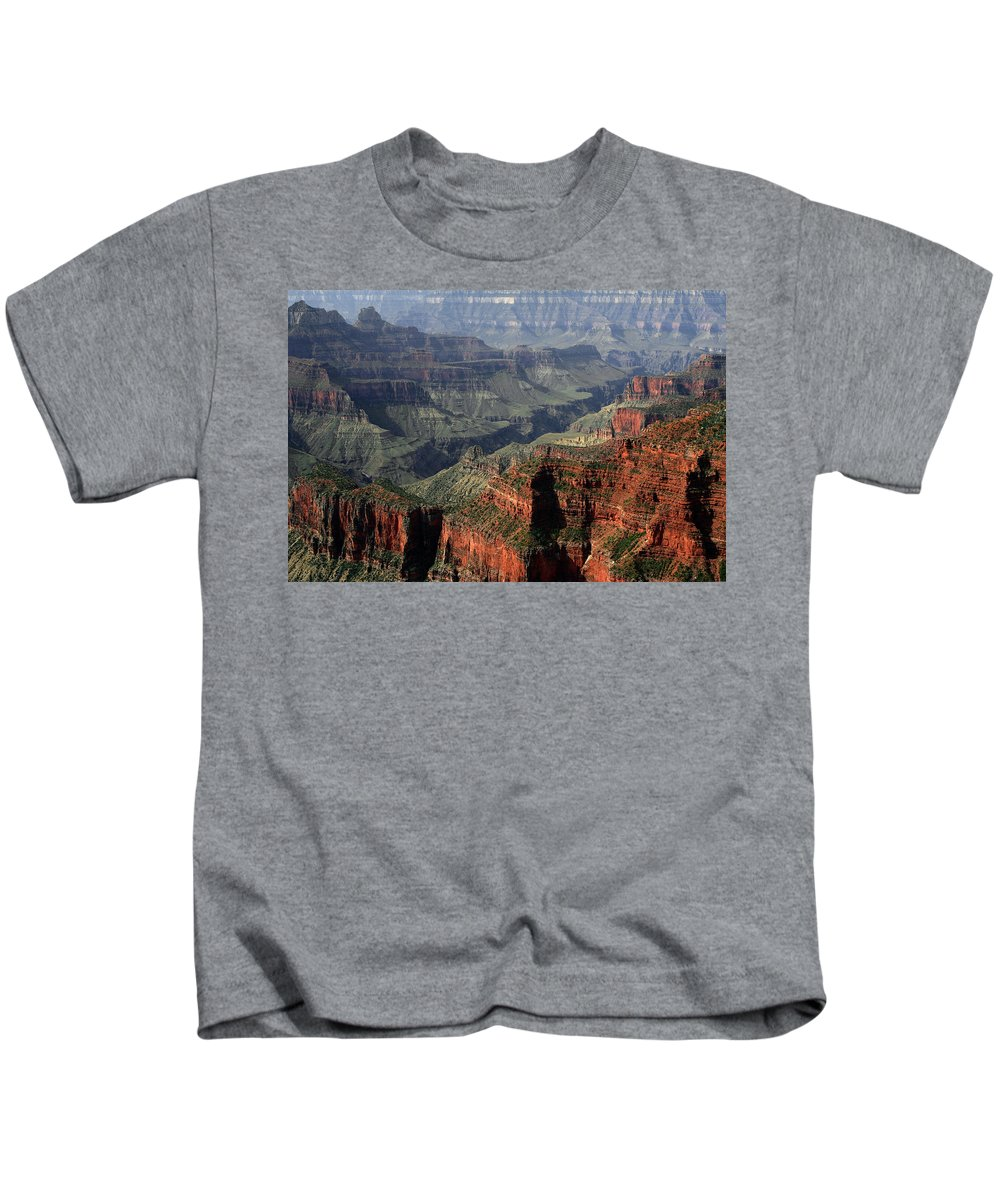 One River's Power Kids T-Shirt featuring the photograph One River's Power by Wes and Dotty Weber