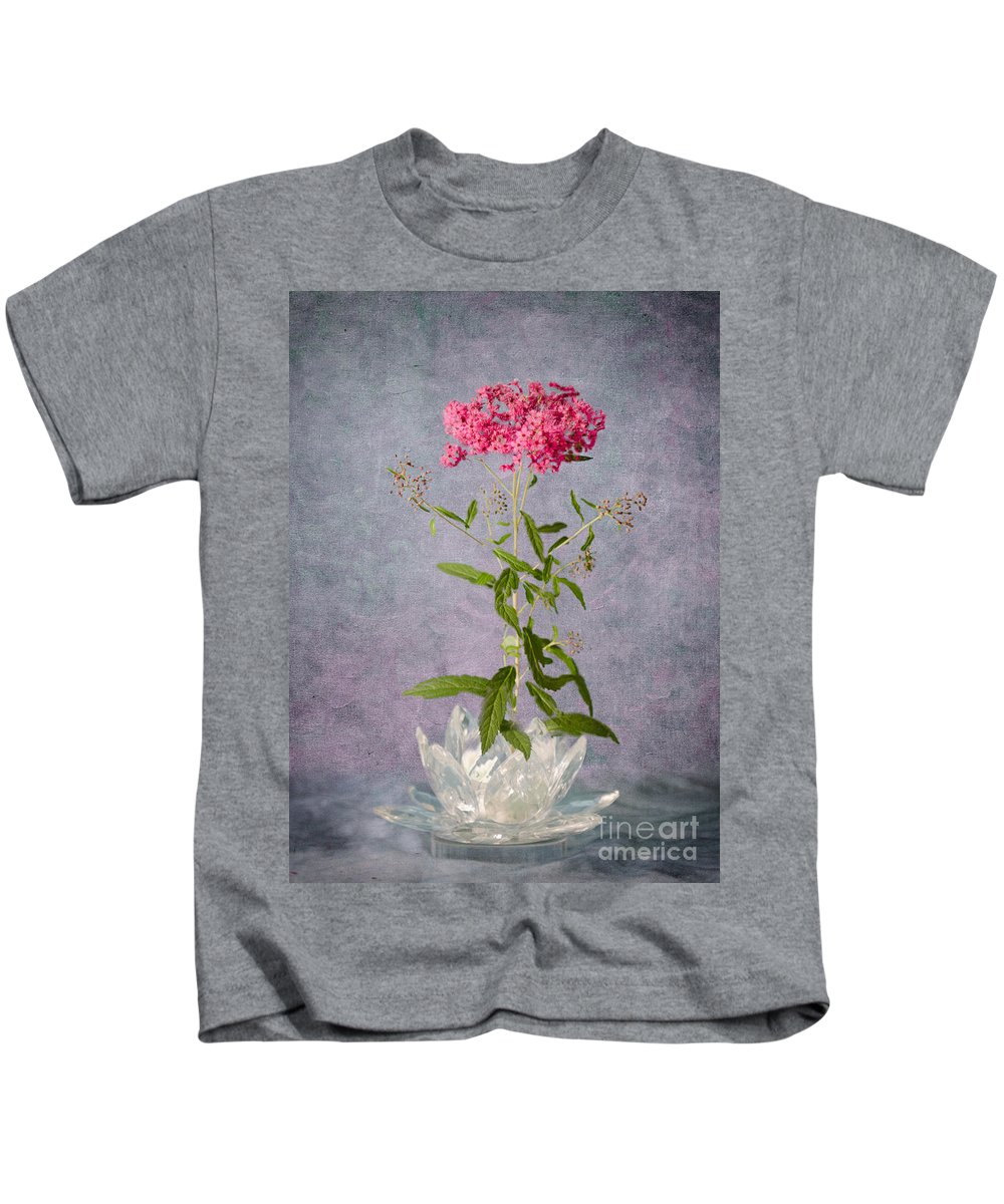Spirea Kids T-Shirt featuring the photograph One Stem by Betty LaRue