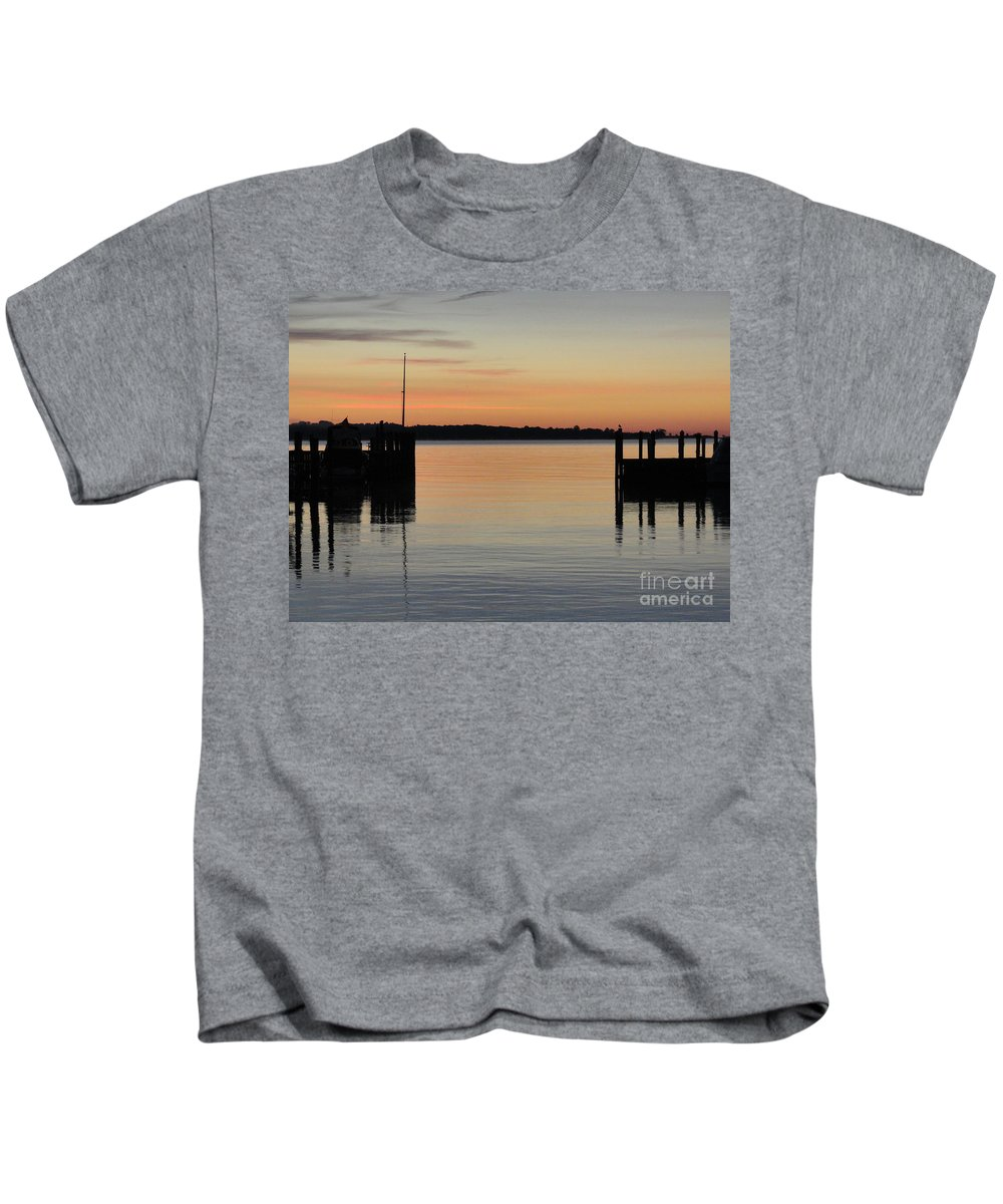 River Kids T-Shirt featuring the photograph Orange September River by Meandering Photography