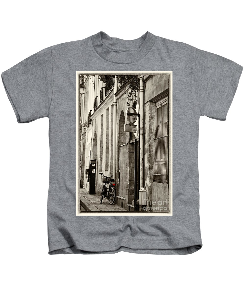 Paris Kids T-Shirt featuring the photograph Paris bicycle by Sheila Smart Fine Art Photography
