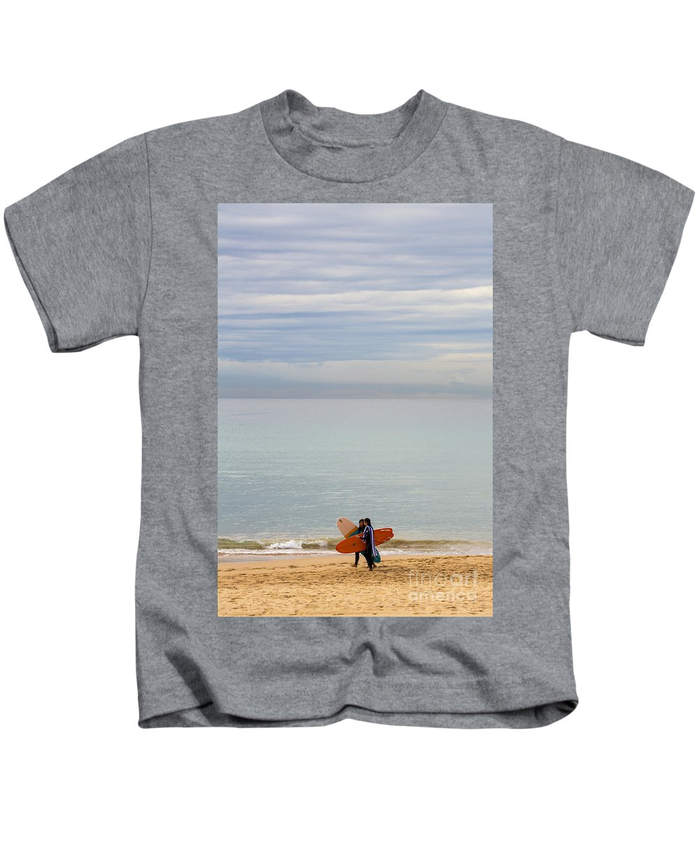 Pastel Kids T-Shirt featuring the photograph Pastel Manly morning by Sheila Smart Fine Art Photography