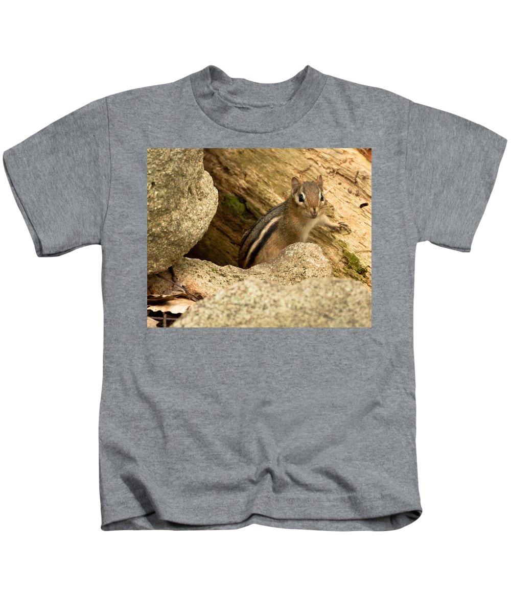 Nature Kids T-Shirt featuring the photograph Peek A Boo by Frank Pietlock