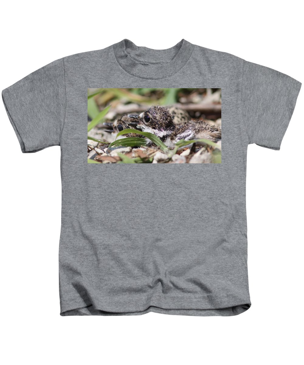 Killdeer Kids T-Shirt featuring the photograph Killdeer Baby - Photo 8 by Travis Truelove