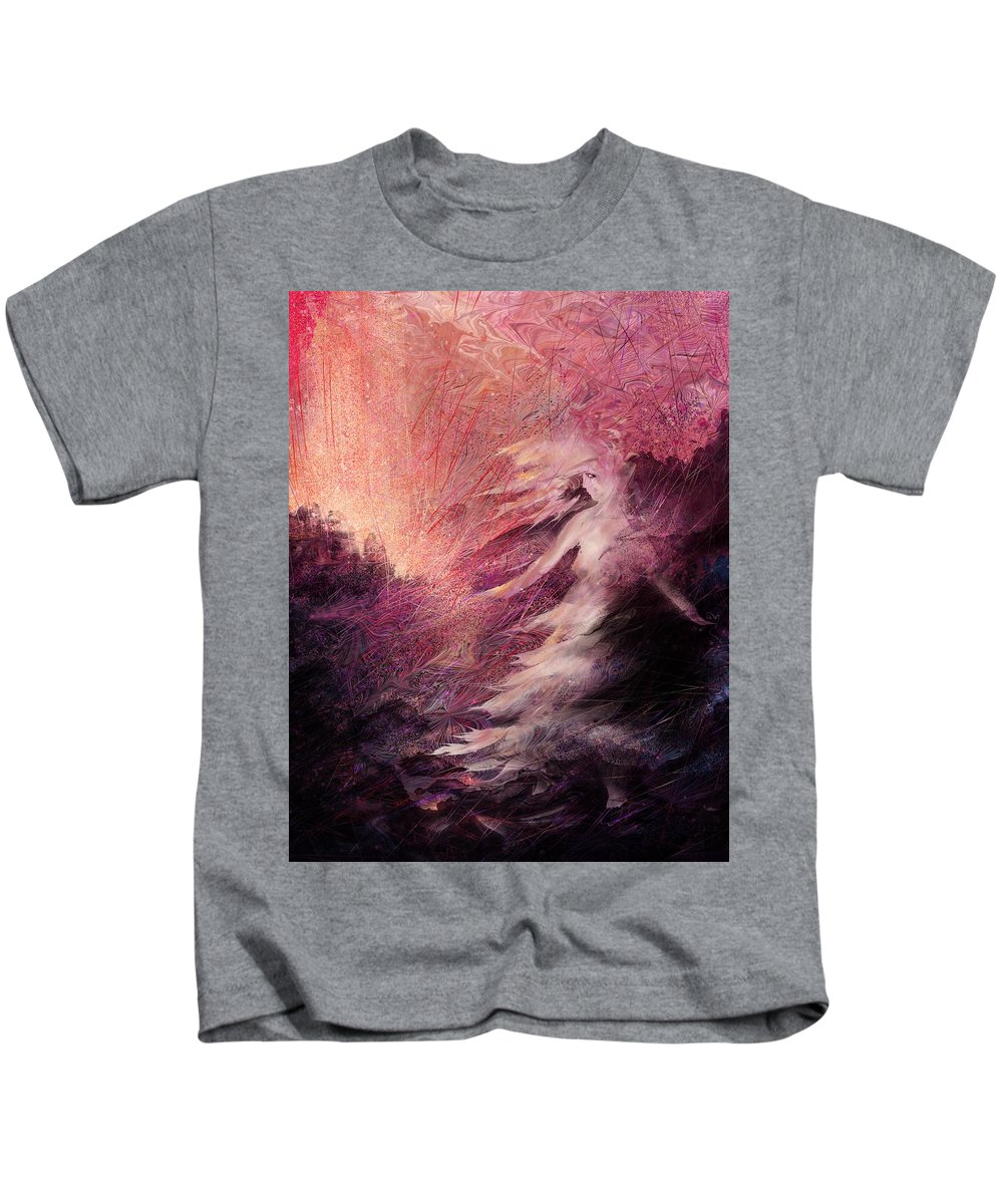 Figure Kids T-Shirt featuring the digital art Pillar Of Salt by Rachel Christine Nowicki