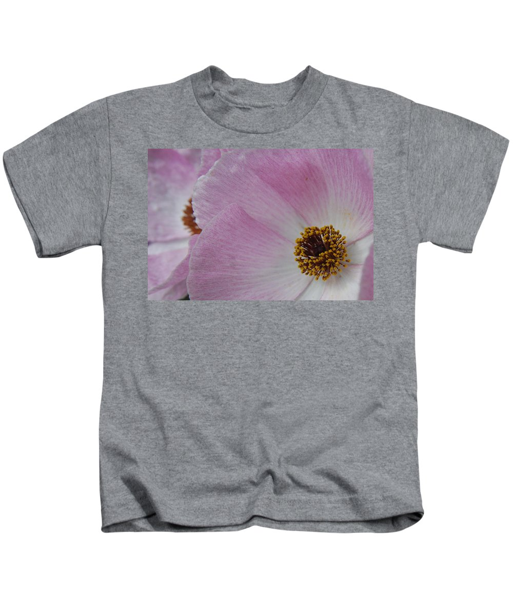 Poppy Kids T-Shirt featuring the photograph Pink Prickly Poppy by Beth Gates-Sully