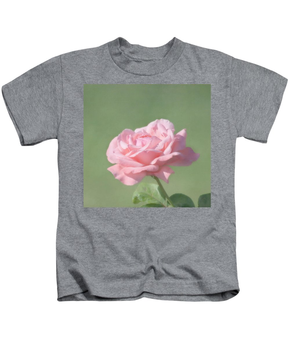 Flower Kids T-Shirt featuring the photograph Pink Rose by Kim Hojnacki
