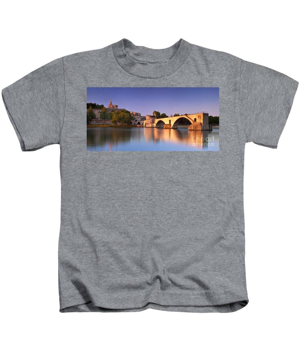 Pont St Benezet Kids T-Shirt featuring the photograph Pont St. Benezet by Brian Jannsen