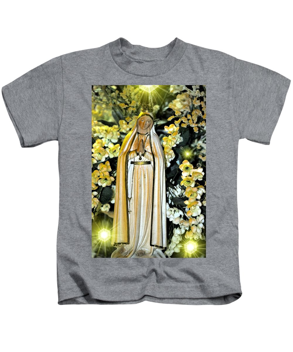Pray Kids T-Shirt featuring the photograph Pray For Us by Maria Urso