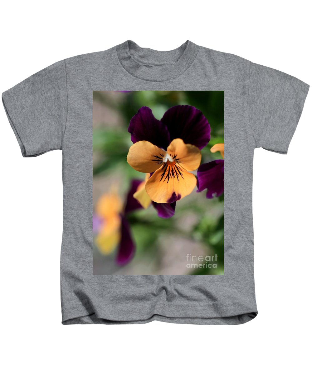 Pansy Kids T-Shirt featuring the photograph Prettiest Pansy by Sabrina L Ryan