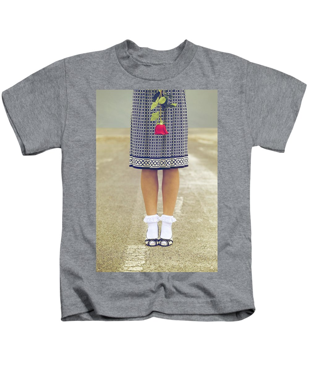 Woman Kids T-Shirt featuring the photograph Red Rose by Joana Kruse