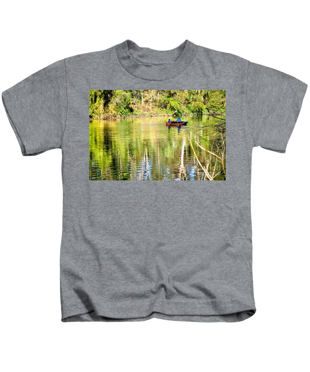 Photography Kids T-Shirt featuring the photograph Reflections Of Fathers' Day by Kaye Menner