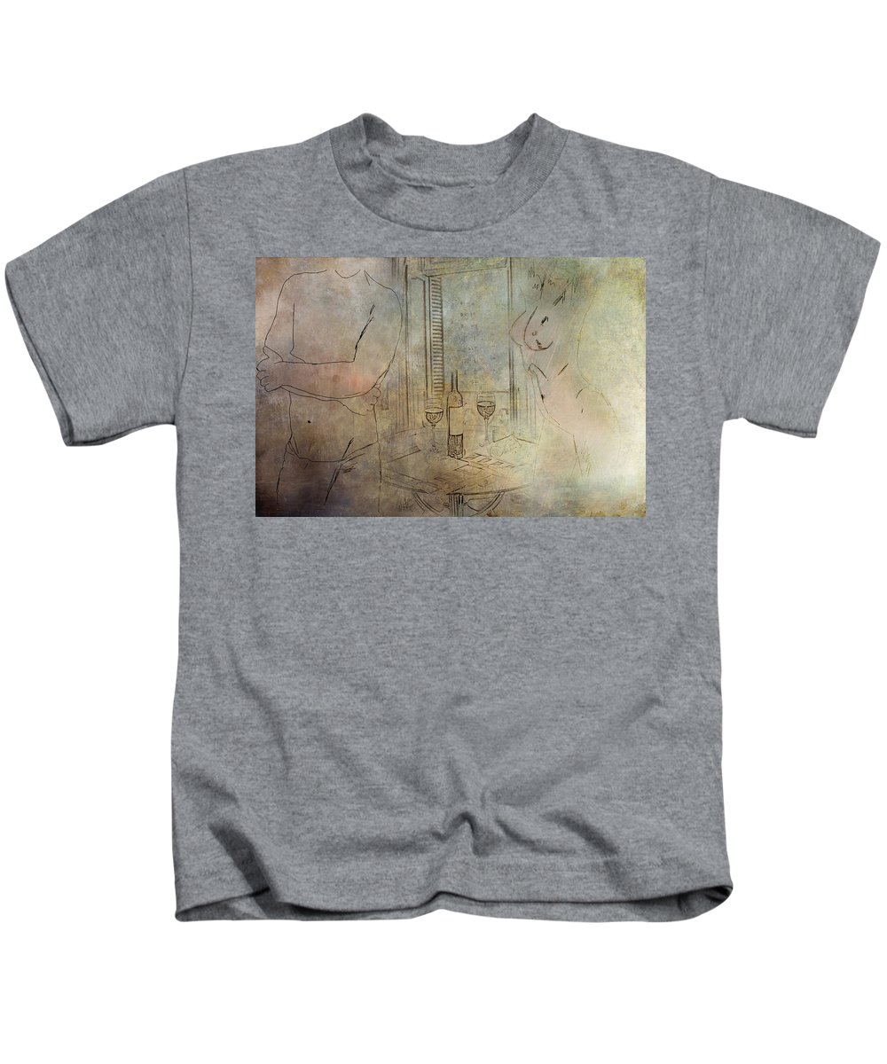 Nude Kids T-Shirt featuring the digital art Relationship by Diane Dugas