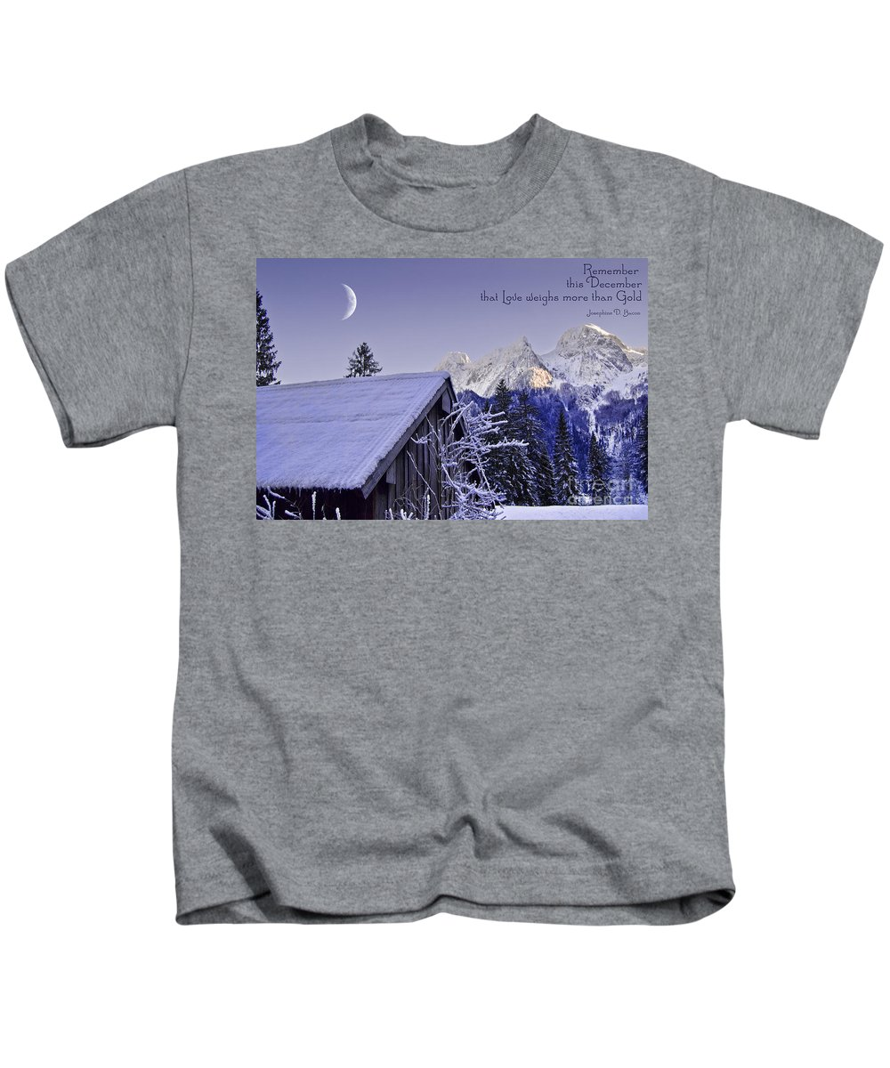 Winter Kids T-Shirt featuring the photograph Remember This December by Sabine Jacobs