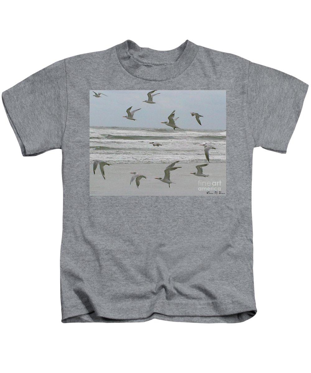 Beach Kids T-Shirt featuring the photograph Riding The Wind by Donna Brown