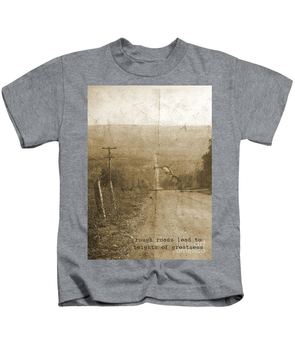Road Kids T-Shirt featuring the photograph Road Not Traveled by Traci Cottingham
