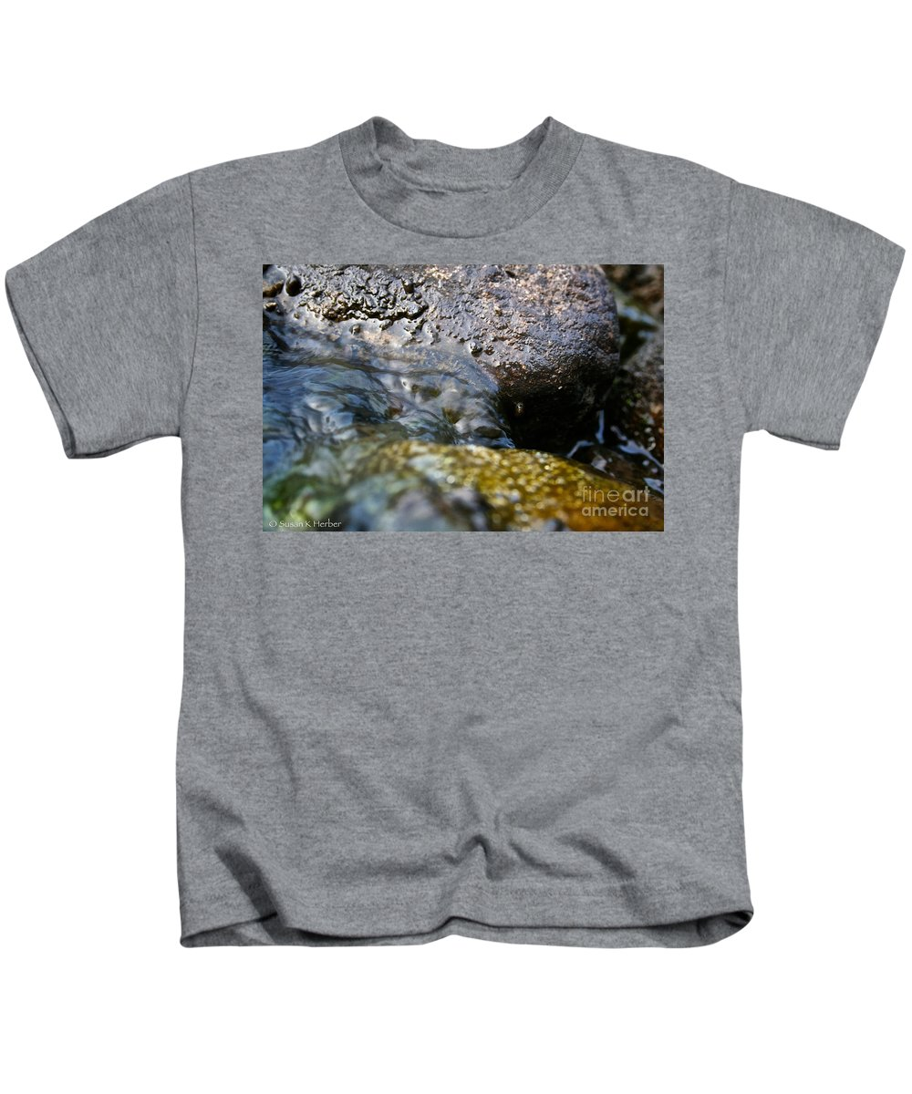 Outdoors Kids T-Shirt featuring the photograph Rolling River by Susan Herber
