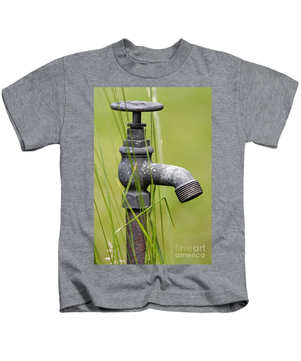 Hydrant Kids T-Shirt featuring the photograph Rusty Water Supply Point by Michal Boubin