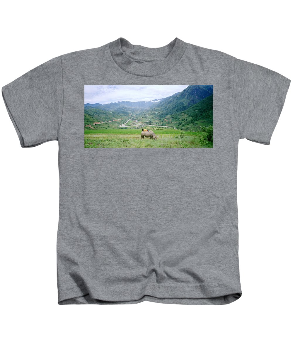 Asia Kids T-Shirt featuring the photograph Sapa by Shaun Higson