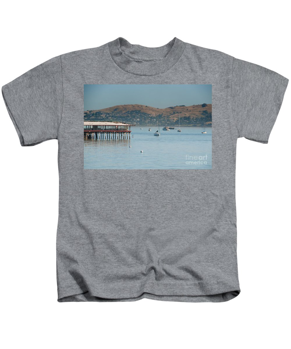 California Kids T-Shirt featuring the digital art Sausalito Harbour by Carol Ailles