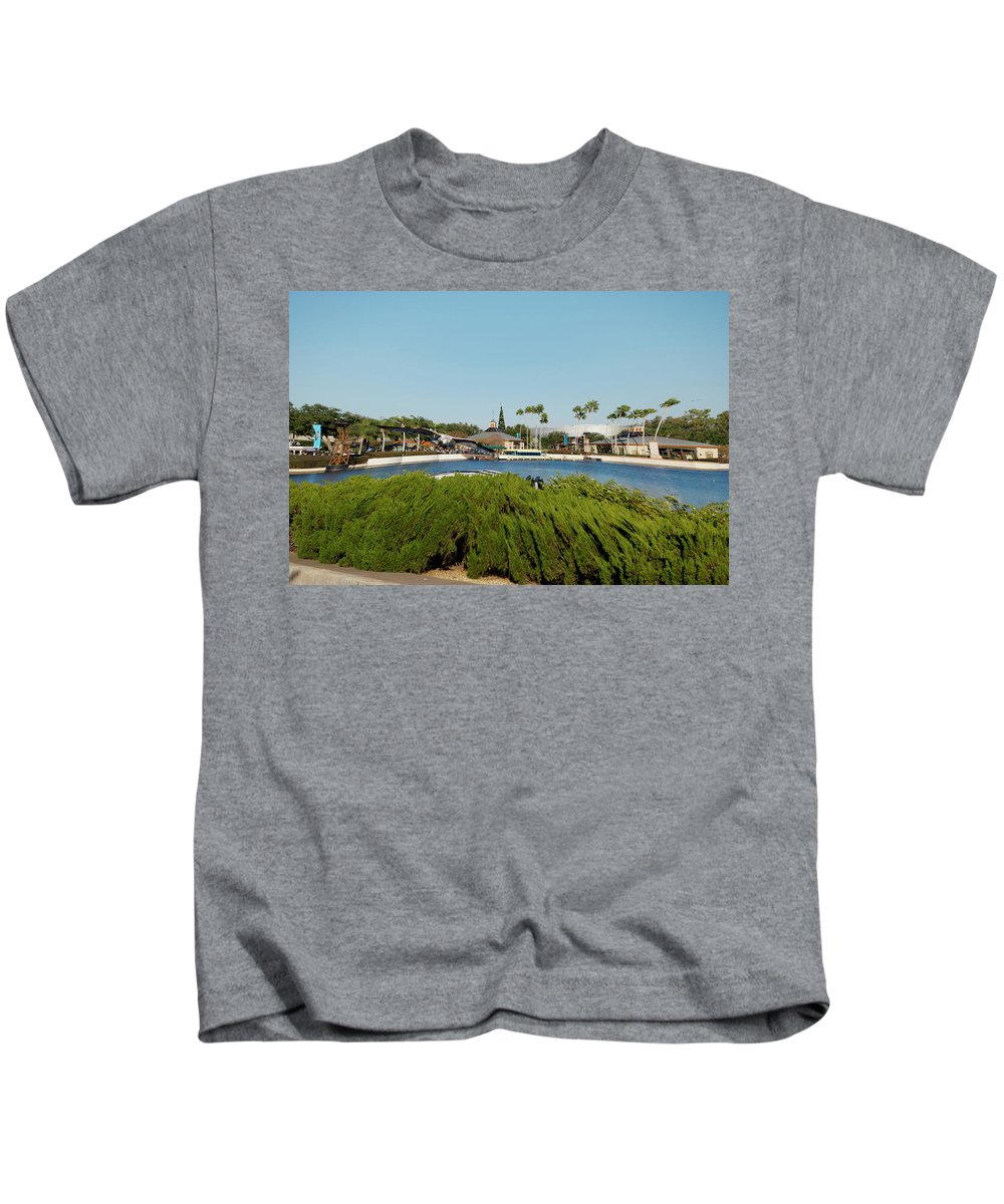 Digital Art Kids T-Shirt featuring the photograph Sea Gull Checking Me Out Digital Art by Thomas Woolworth