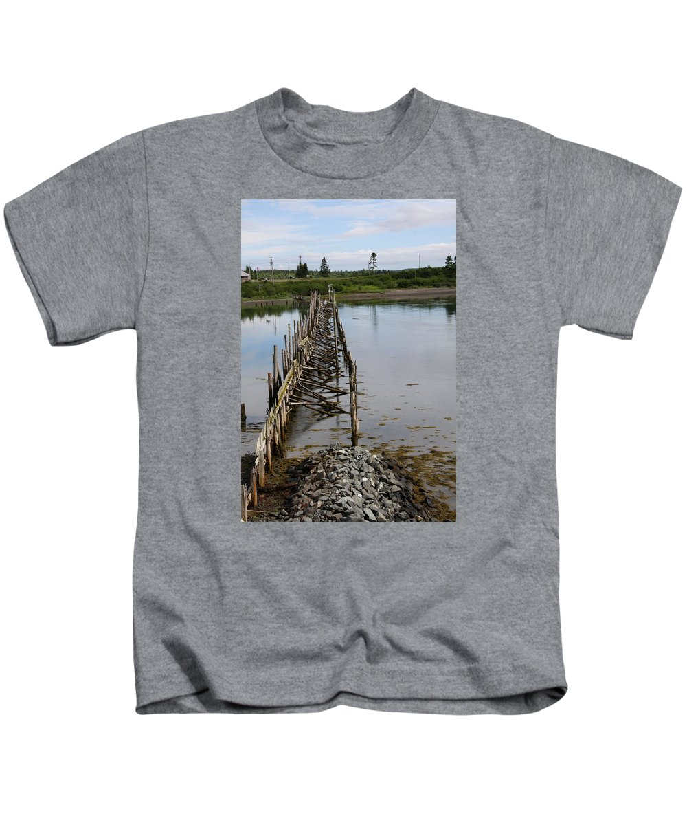Seascape Kids T-Shirt featuring the photograph Seascape Campobello Island by Christiane Schulze Art And Photography