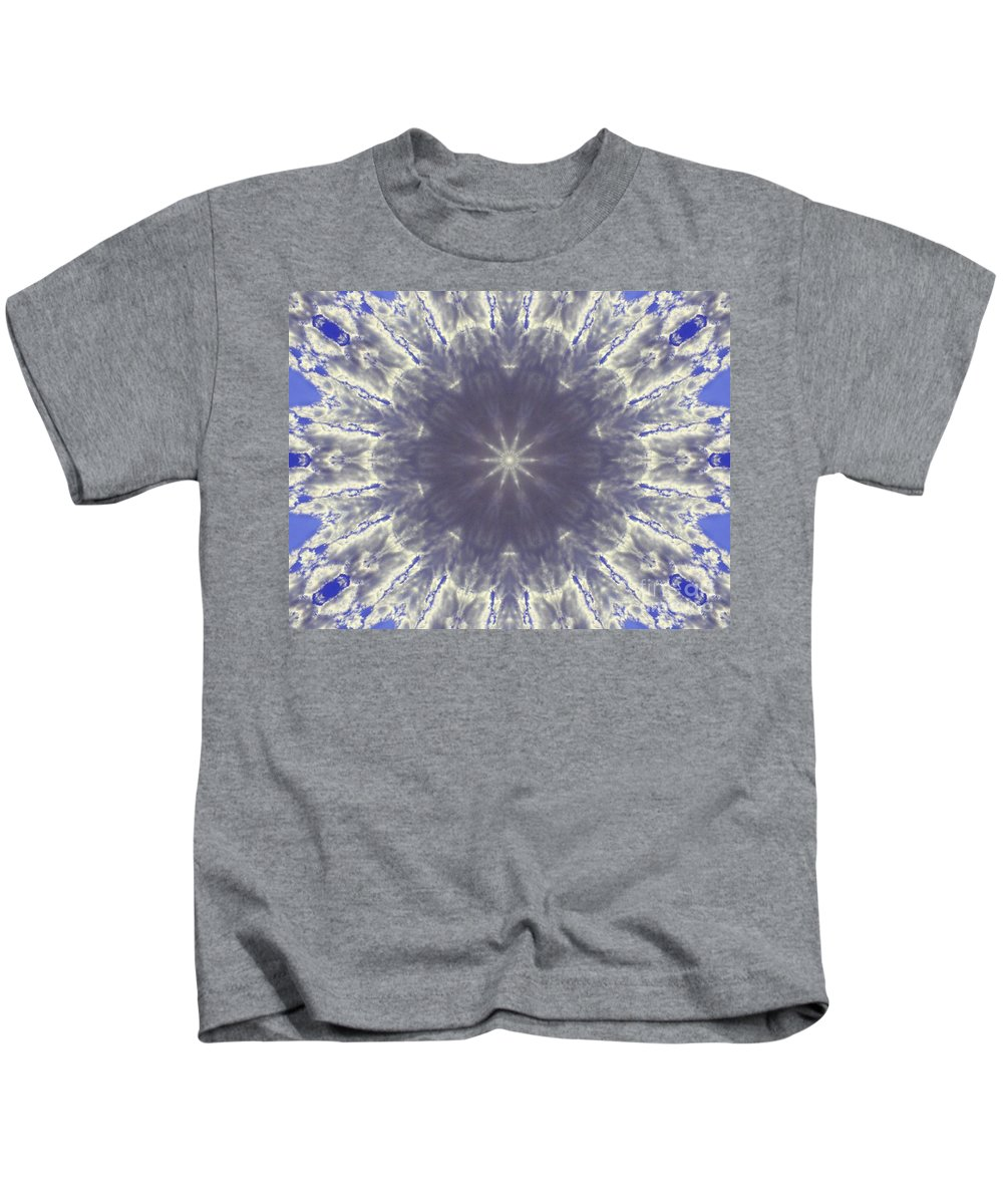 Digital Art Kids T-Shirt featuring the digital art Snow Flake Crystal by Tommy Anderson