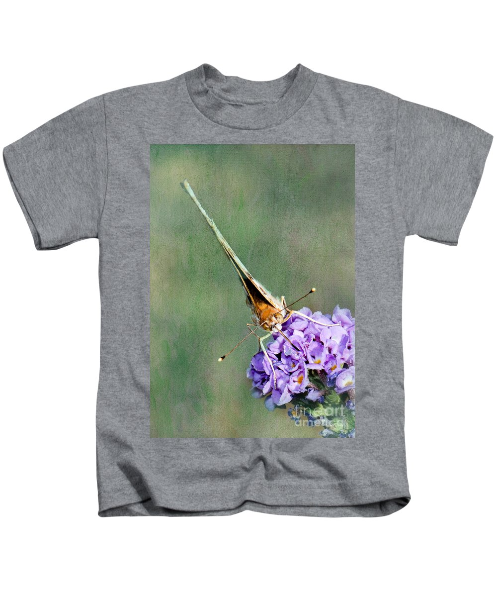 Butterfly Kids T-Shirt featuring the photograph So What Butterfly by Betty LaRue
