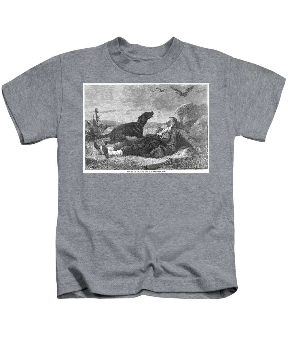 19th Century Kids T-Shirt featuring the photograph Soldier & Dog by Granger