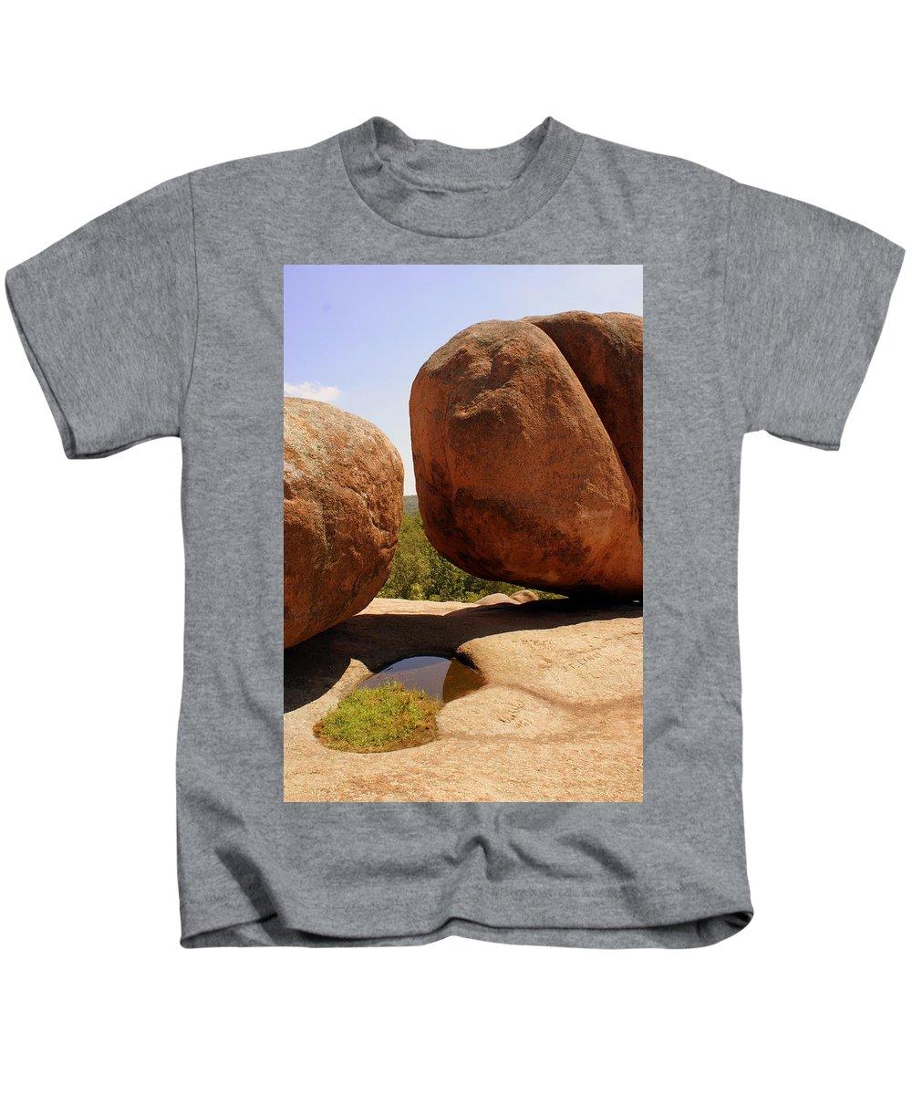 Rocks Kids T-Shirt featuring the photograph Split Bouuder by Marty Koch