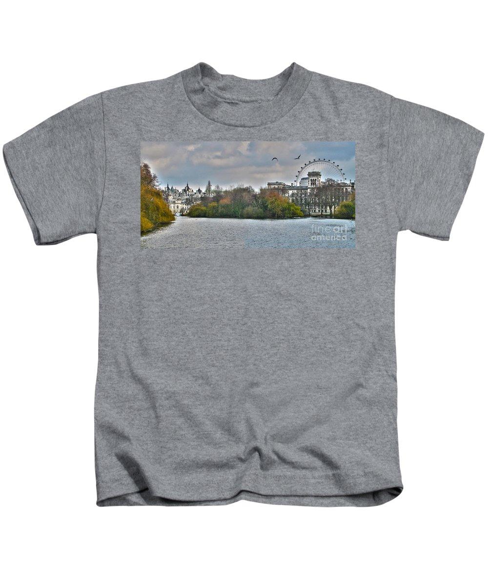 St James Park Kids T-Shirt featuring the photograph St. James Park In London by Jack Schultz
