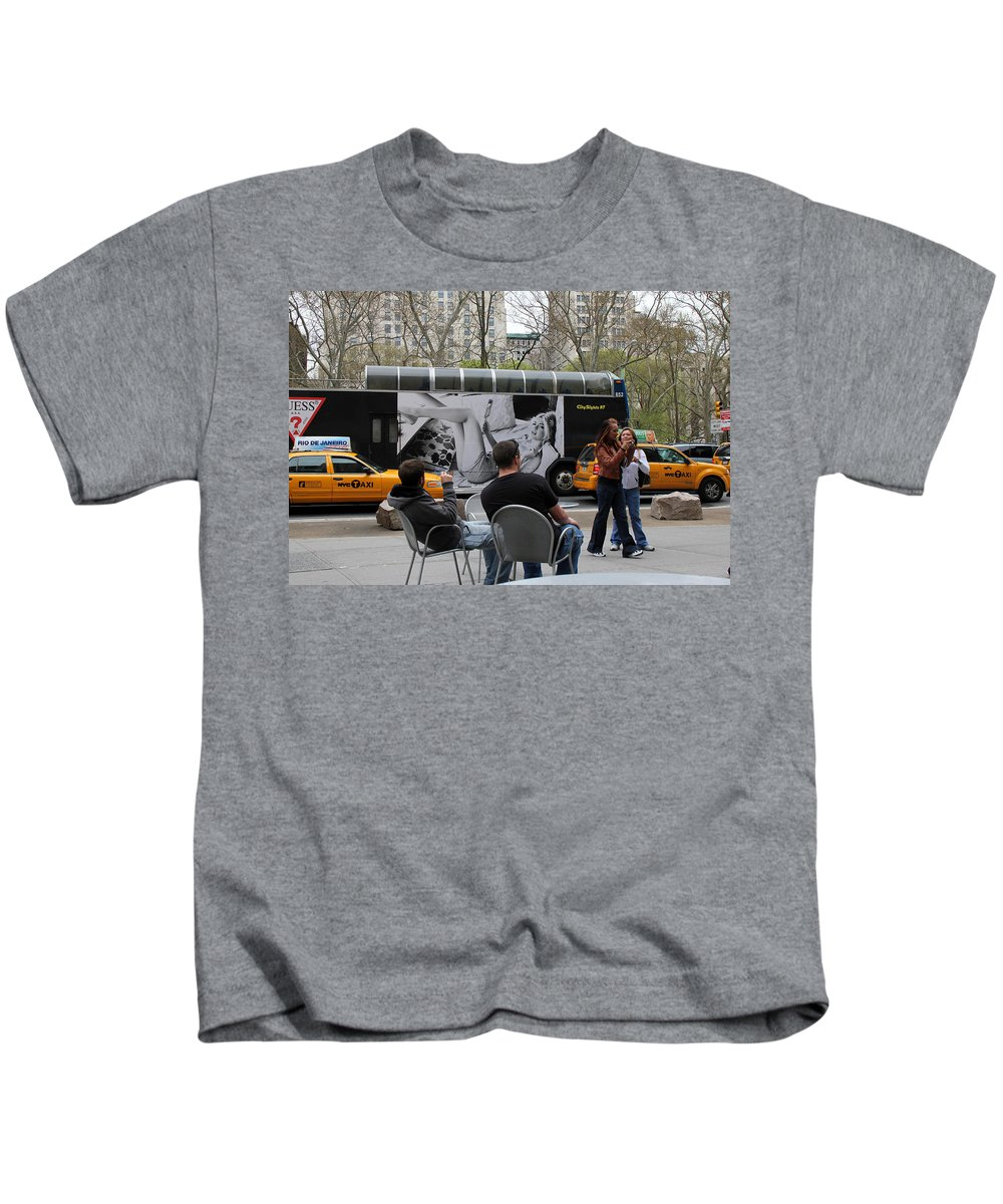 New York Kids T-Shirt featuring the photograph Streets Of New York 5 by Andrew Fare