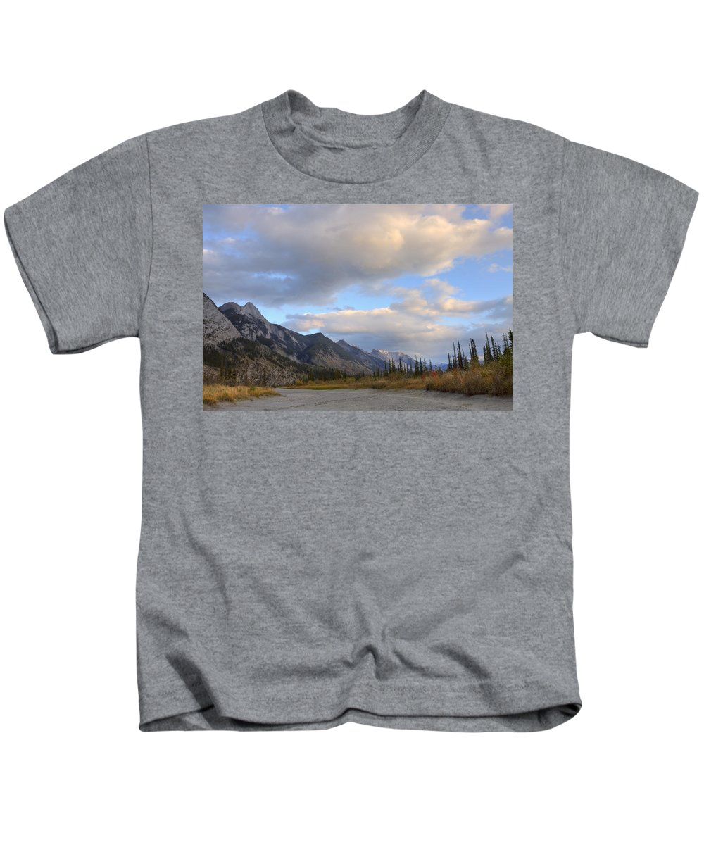 Colin Range Kids T-Shirt featuring the photograph Summer Clouds Over Colin Mountain by Dan Jurak