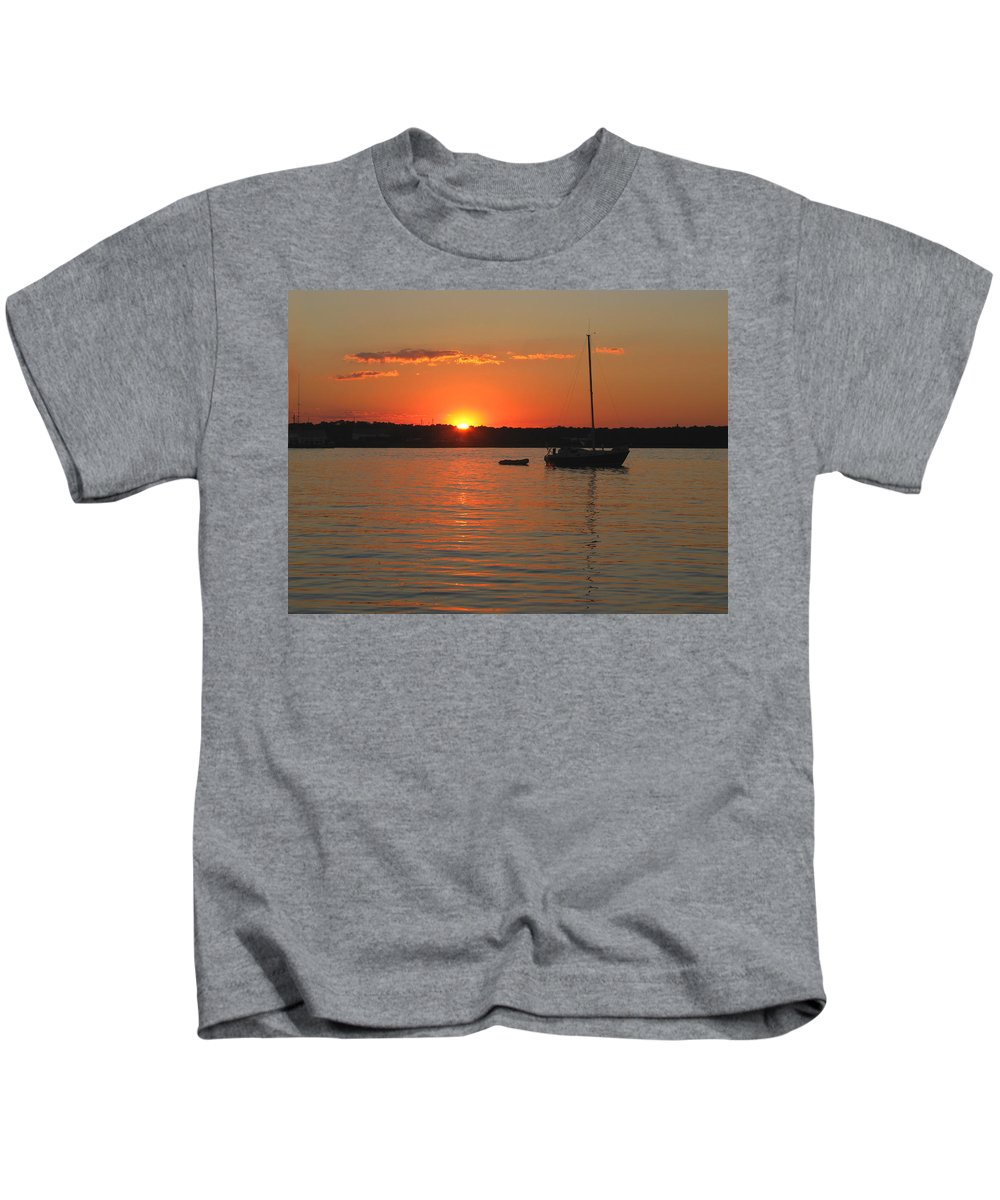 Sunset Kids T-Shirt featuring the photograph Sunset Cove by Clara Sue Beym