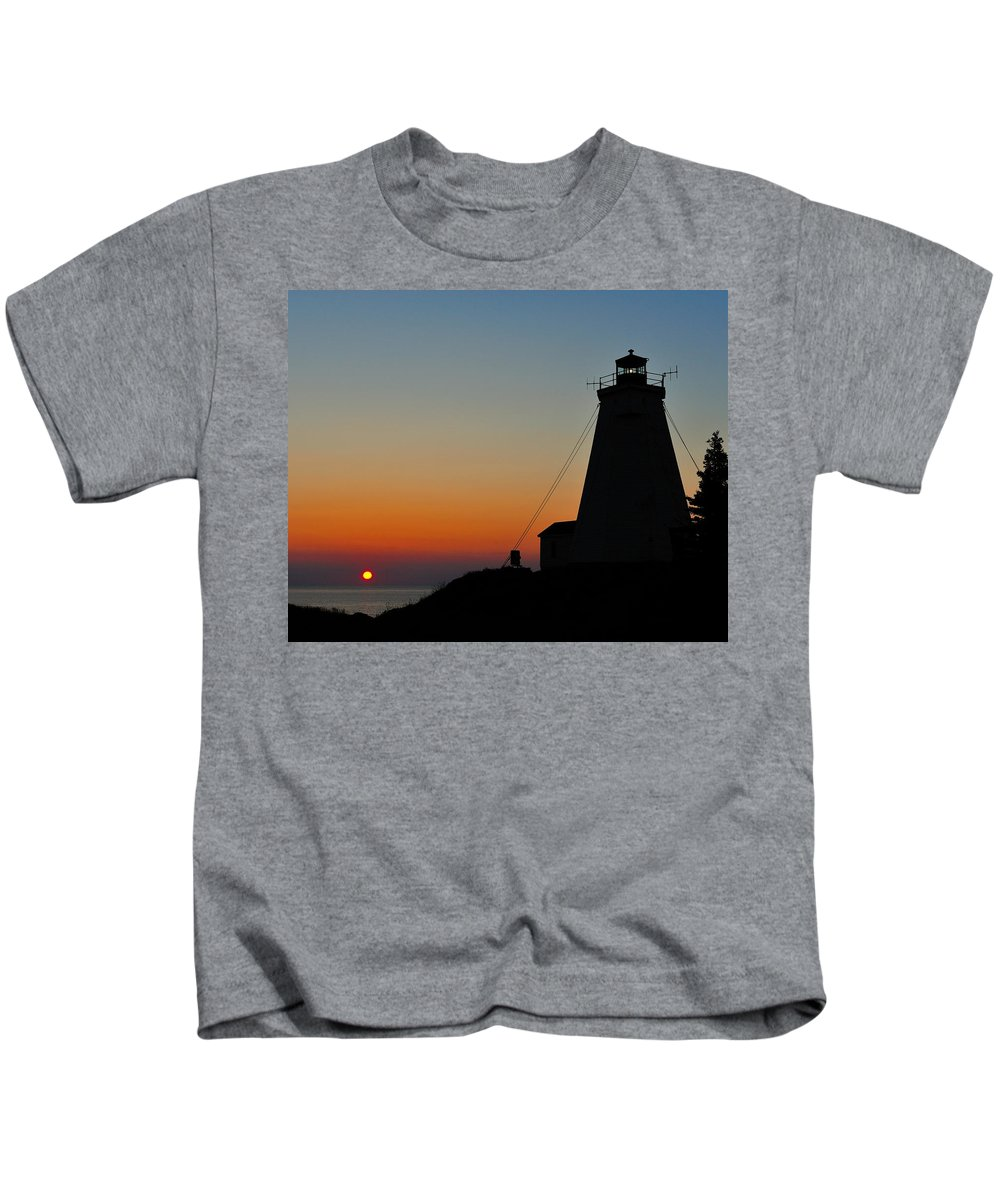 Sunrise Kids T-Shirt featuring the photograph Swallowtail Sunrise - Grand Manan by Tony Beck
