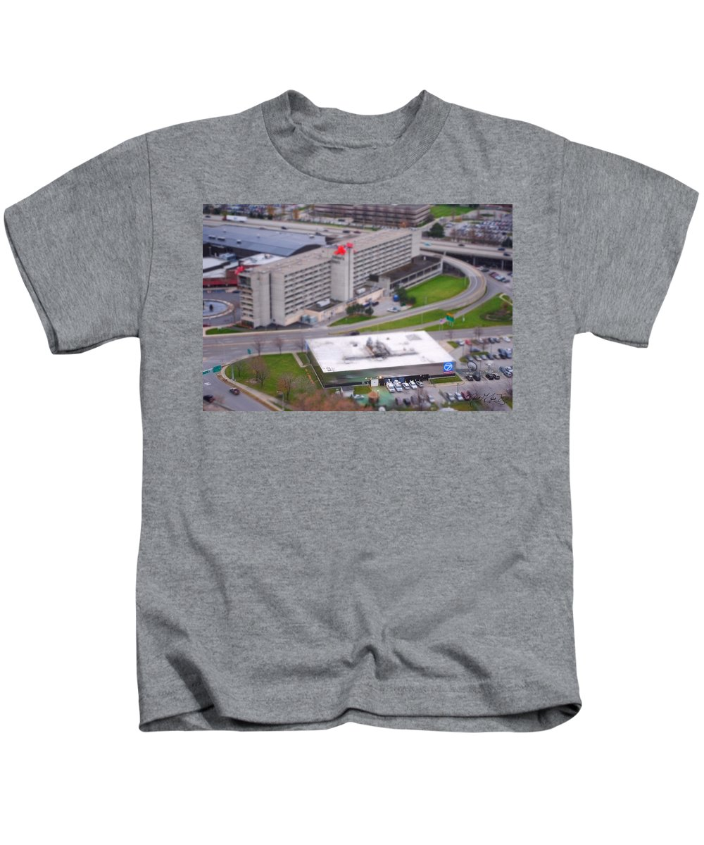 Kids T-Shirt featuring the photograph Table Top Channel 7 by Michael Frank Jr
