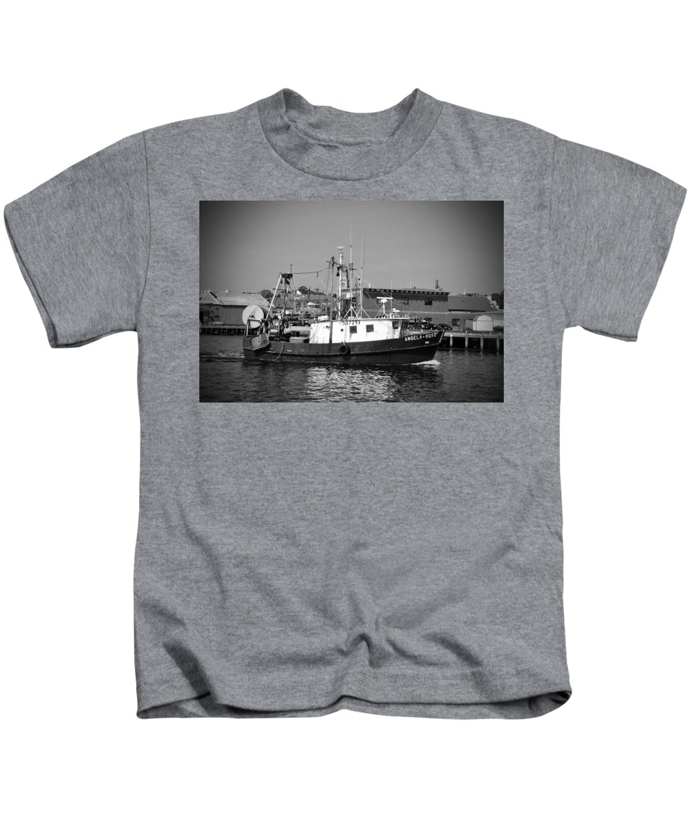 Maine Kids T-Shirt featuring the photograph The Angela Rose by Brittany Horton