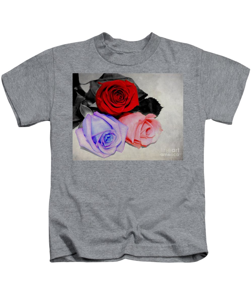 Rose Kids T-Shirt featuring the photograph The Color Of My Love by Davandra Cribbie