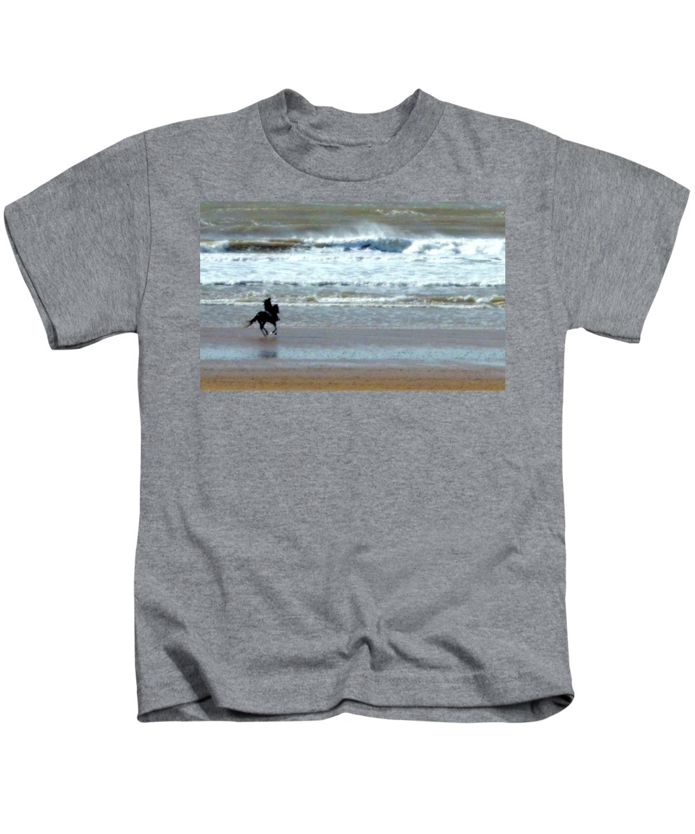 Morocco Kids T-Shirt featuring the photograph The Horse And The Sea by Miki De Goodaboom