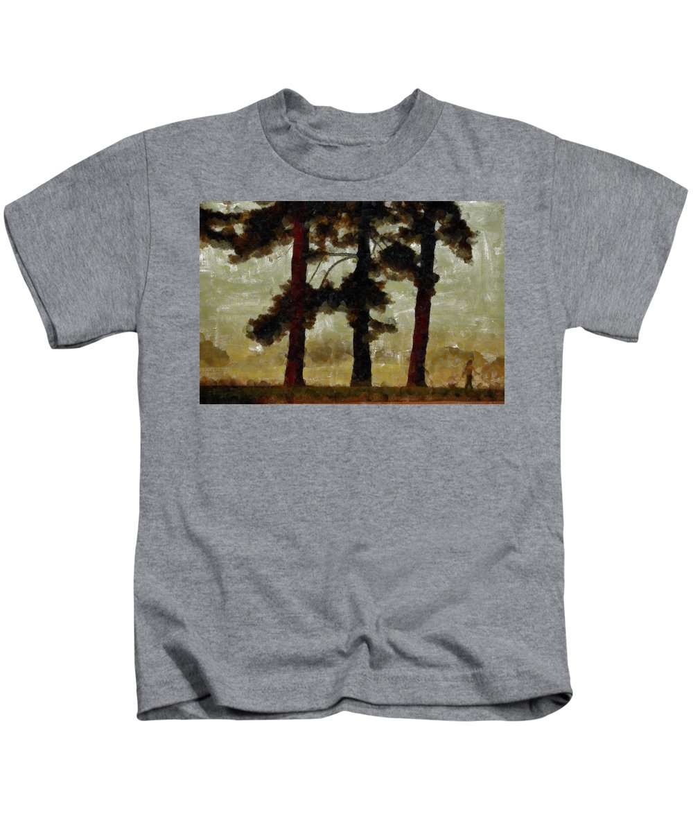 Tree Kids T-Shirt featuring the photograph The Morning Stroll by Trish Tritz