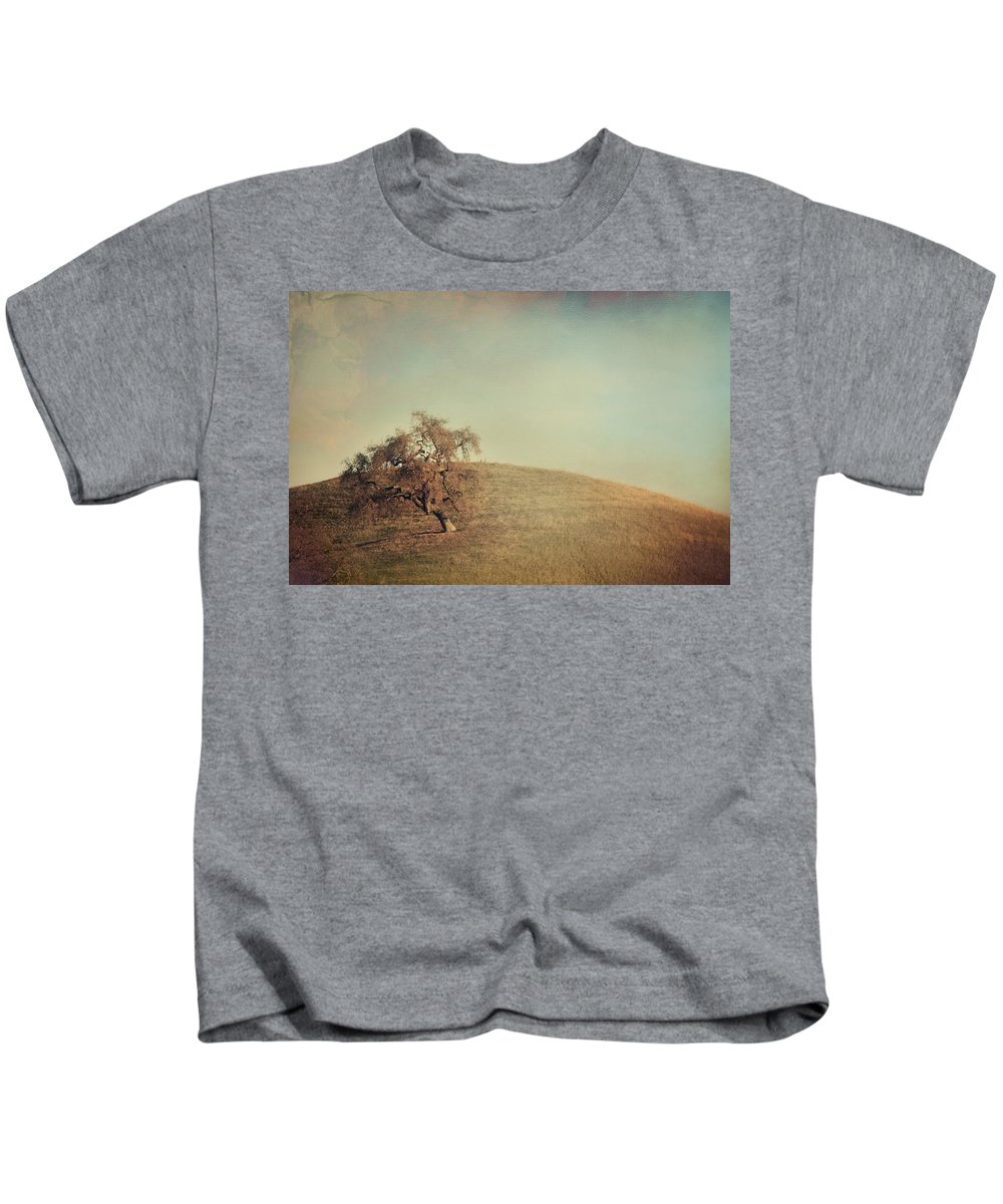 Landscape Kids T-Shirt featuring the photograph The Neverending Loneliness by Laurie Search