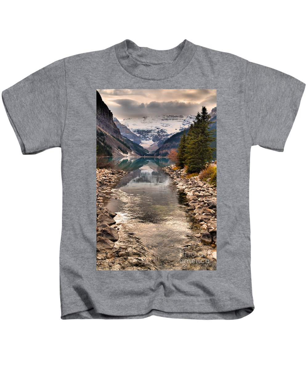 Mountains Kids T-Shirt featuring the photograph The Shimmer by Tara Turner