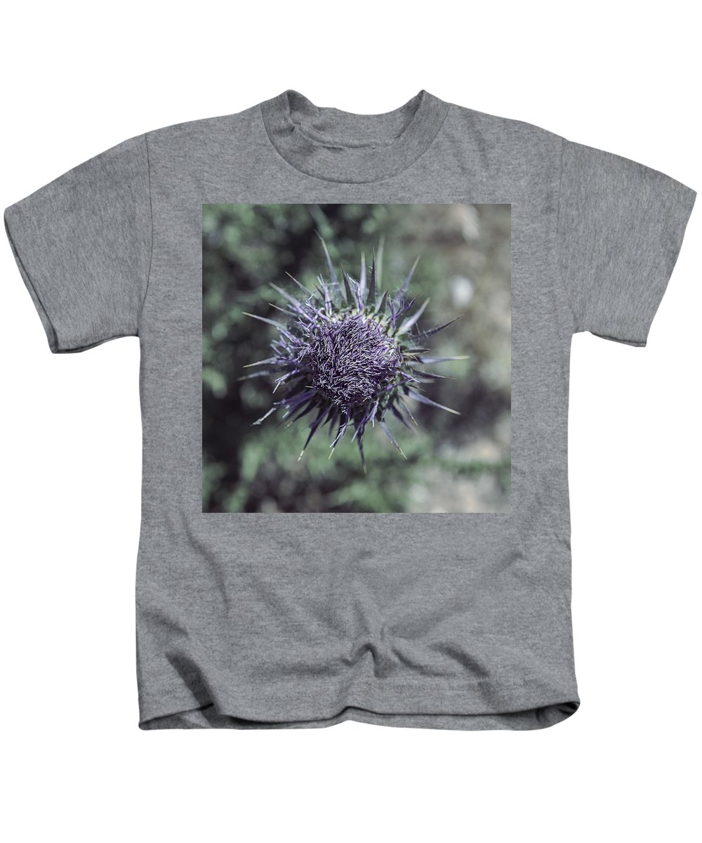 Thistle Kids T-Shirt featuring the photograph Thistle by Joana Kruse