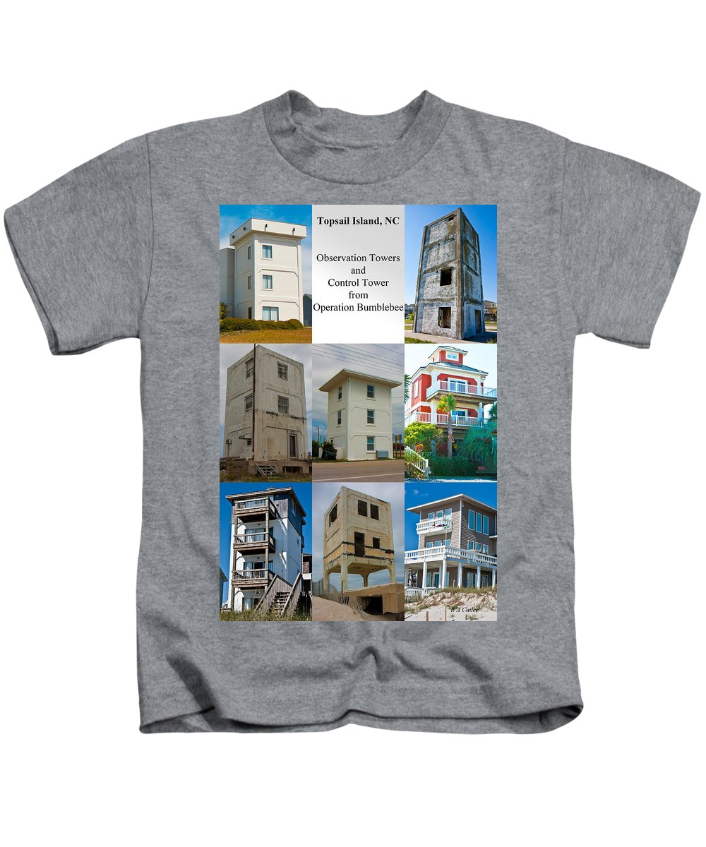 Topsail Kids T-Shirt featuring the photograph Topsail Island Towers by Betsy Knapp