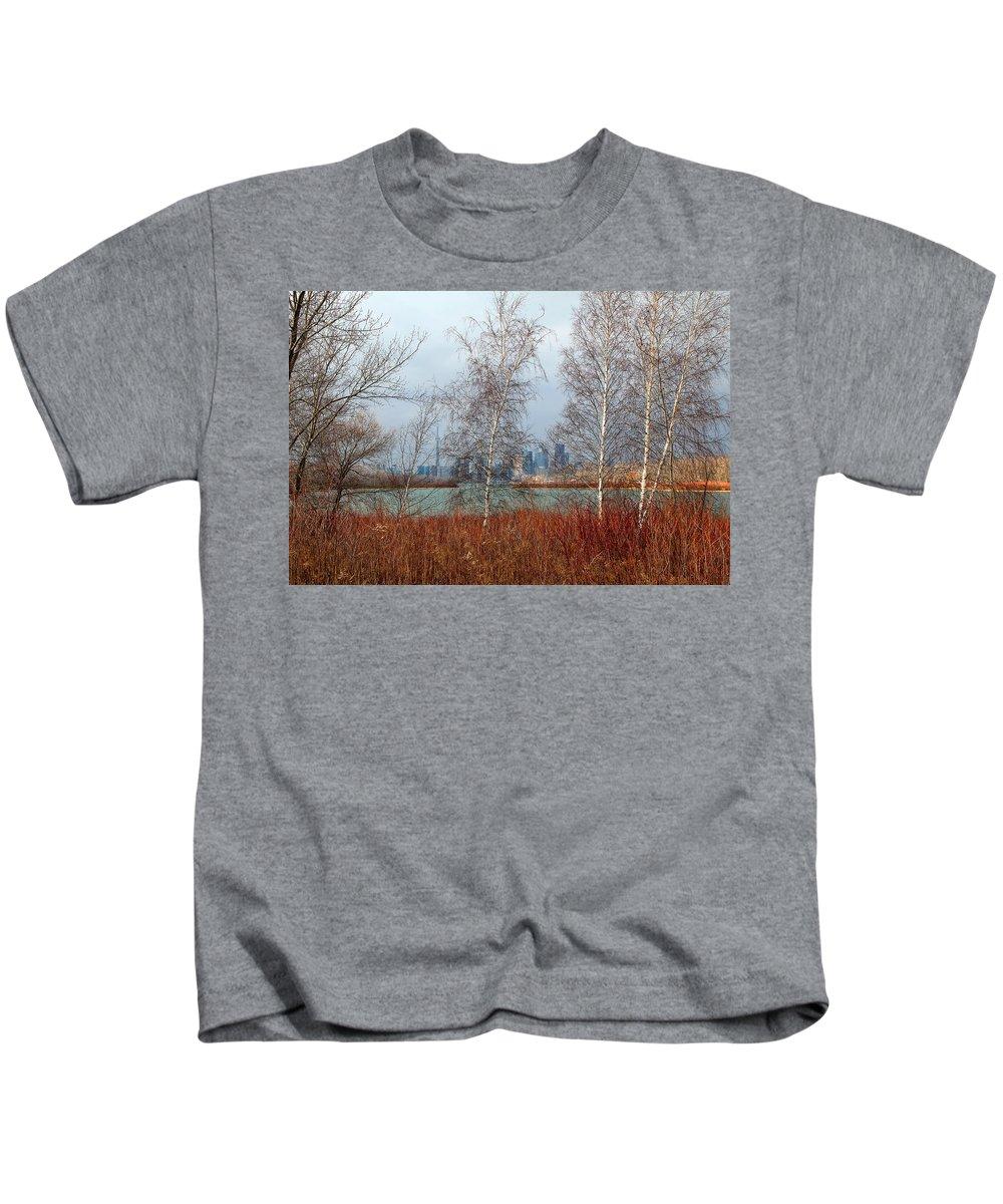 Toronto Skyline Kids T-Shirt featuring the photograph Toronto Skyline 14 by Andrew Fare